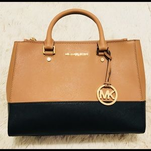 NWT Michael Kors Sutton medium leather satchel